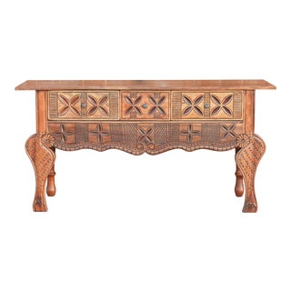Vintage Nahuala Carved Console For Sale