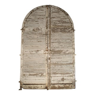 Pair of Large Antique French Door Shutters From a Chateau, 19th Century For Sale