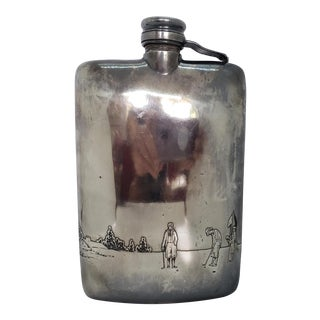 Antique Late 19th Century Meriden Britannia Silver Co. Flask For Sale