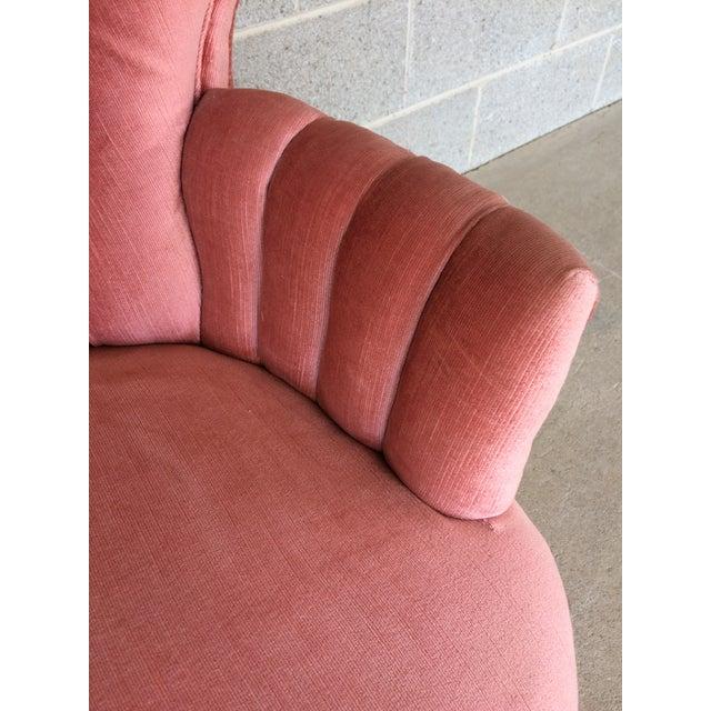 Vintage Pink Tufted Loveseat - Image 8 of 10