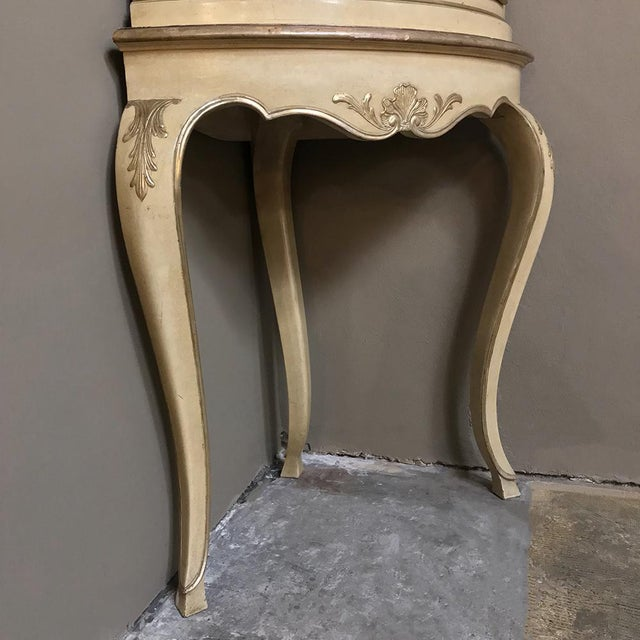 Antique Italian Baroque Painted Corner Cabinet For Sale - Image 9 of 12