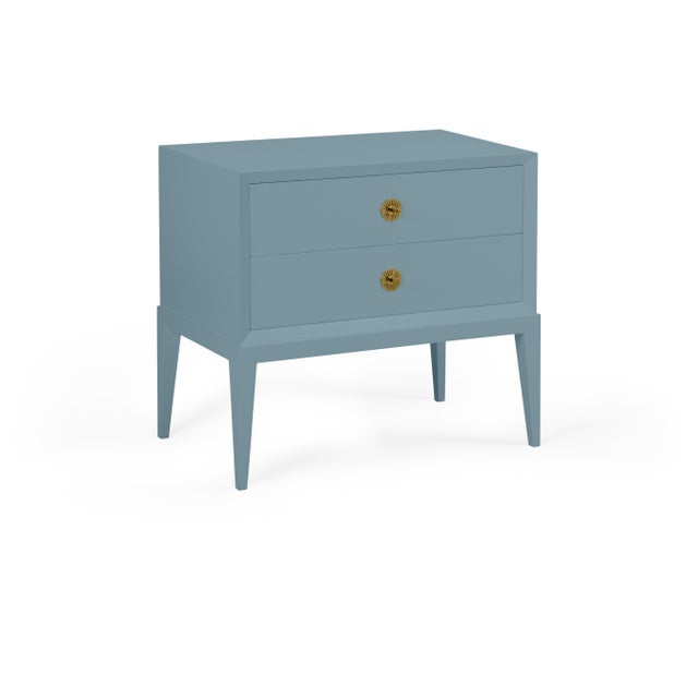 Transitional Casa Cosima Hayes 2-Drawer Side Chest, Chiswell Blue For Sale - Image 3 of 3