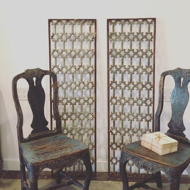Mid 19th Century British Decorative Iron Panels- a Pair For Sale - Image 4 of 8