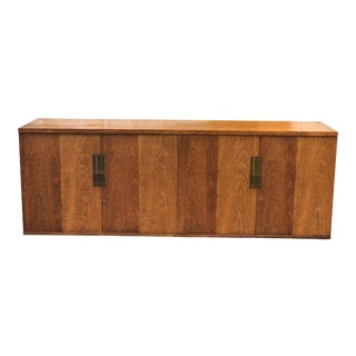 Mid-Century Modern Walnut Sideboard Credenza Cabinet by Baker Furniture For Sale