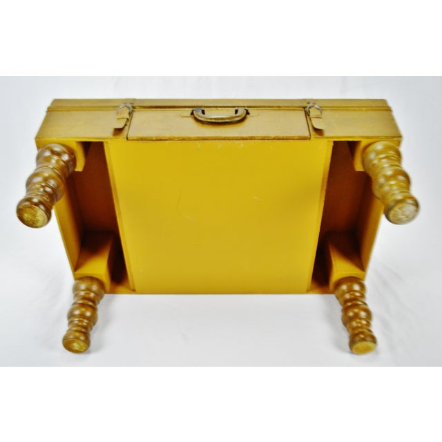 Vintage Faux Leather Suitcase Trunk Coffee Table For Sale - Image 10 of 13