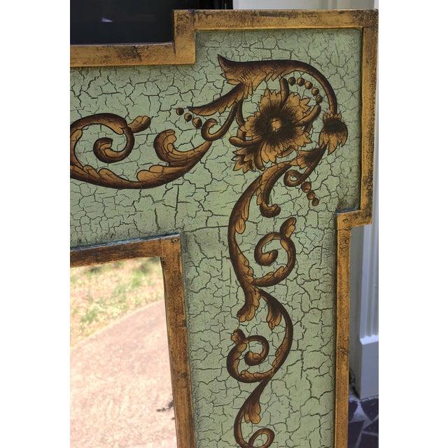 Design Rectangular Black / Green Mirrors For Sale - Image 4 of 13
