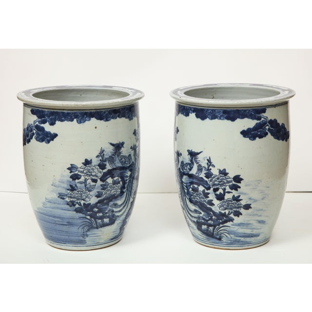 Chinese Blue and White Planters - A Pair For Sale - Image 10 of 13