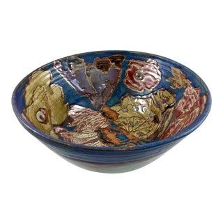 Bernadette Curran Contemporary Butterfly & Floral Design Centerpiece Bowl
