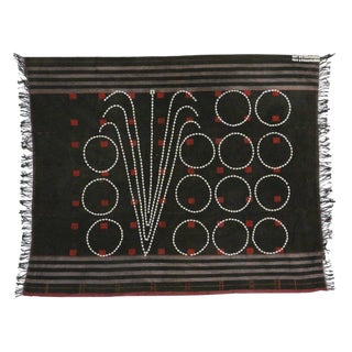 Early 20th Century Antique Sangtam Naga Tribe Supong Warrior Headhunter Shawl / Rug - 3′11″ × 4′8″ For Sale