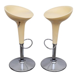 1990s Vintage Original Magis Bombo Green Bar Stools by Stefano Giovannoni- - a Pair For Sale