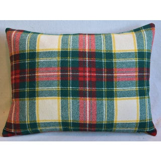 Red & Green Scottish Tartan Plaid Feather/Down Pillow Preview