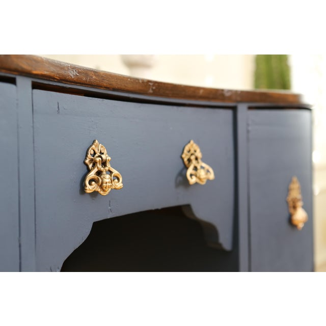 Circa 1930 Louis XV Style Petite Kidney Shaped Desk For Sale - Image 10 of 11