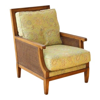 "Vintage Mid Century Henredon ""Acquisitions"" Caned Armchair For Sale"