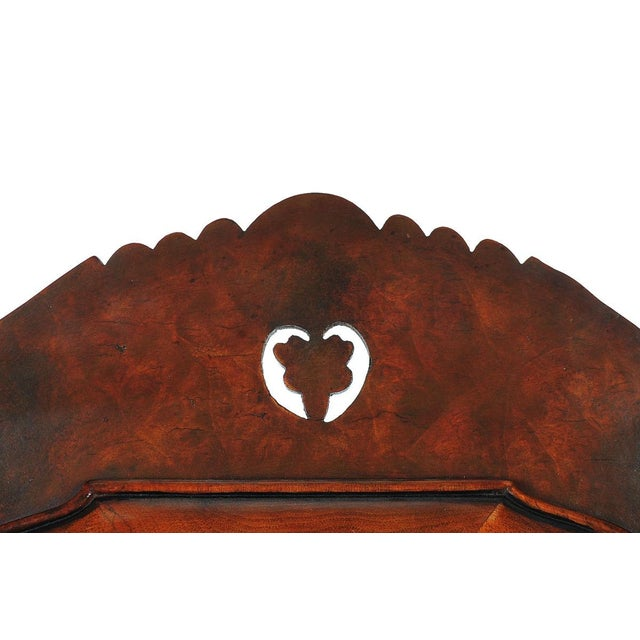 19th Century Carved Walnut Shaving Mirror For Sale - Image 9 of 9