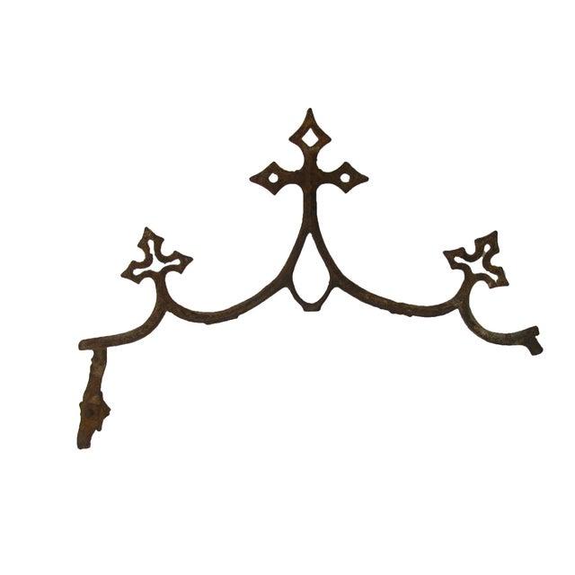 Boho Chic French Fleur de Lys Iron Elements - A Pair For Sale - Image 3 of 3