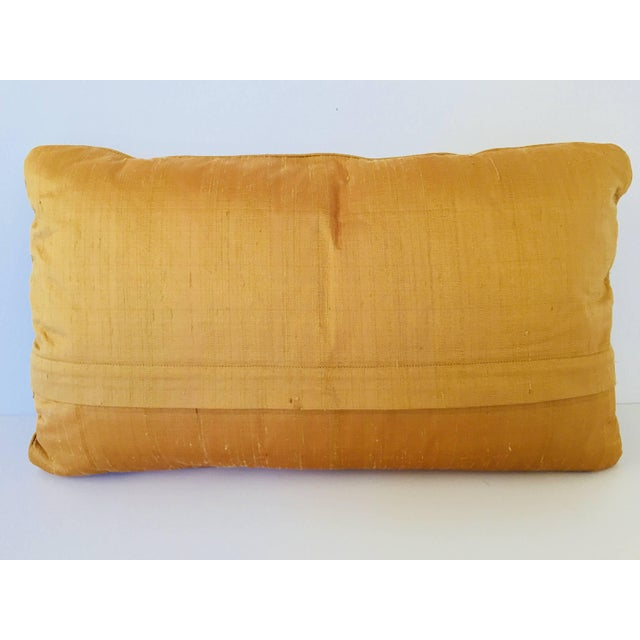 Decorative Ivory Color Silk Throw Pillow Embellished With Beads For Sale - Image 9 of 10