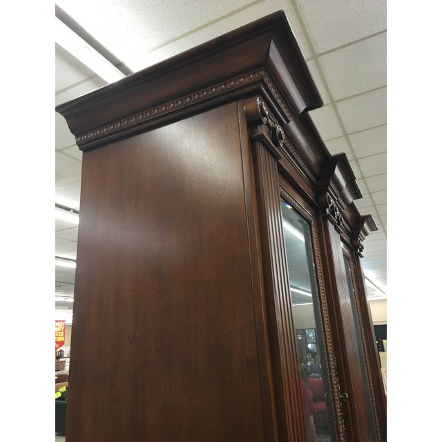 Grand Custom Book Shelves Curio Display Cabinets - a Pair For Sale In Detroit - Image 6 of 7