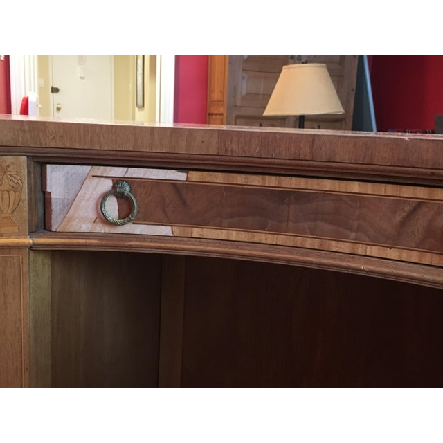 Mahogany Leather Top Kidney-Shaped Desk For Sale In New York - Image 6 of 6