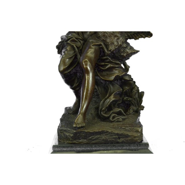 Nude Woman and Swan Statue on Marble Base Sculpture - Image 9 of 9