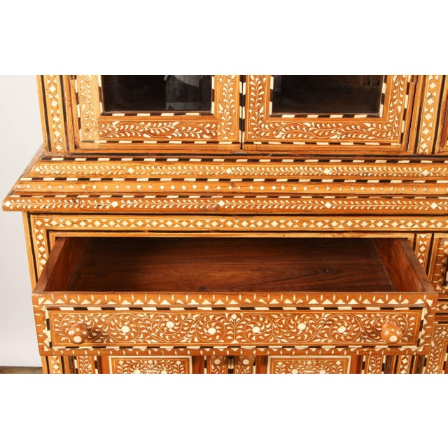 Richly Inlaid Indian Cabinet - Image 6 of 10