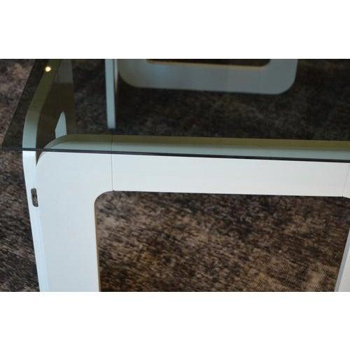 Mid-Century Modern White Vintage Desk From France, C.1970 For Sale - Image 3 of 9