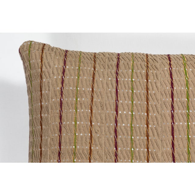 African Vintage African Ashante Textile Pillow For Sale - Image 3 of 7