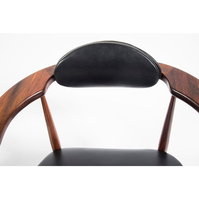 Adrian Pearsall Craft Associates Mid Century Black Leather 950 Chairs - a Pair For Sale - Image 11 of 13