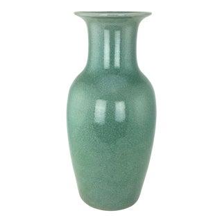 Ming Dynasty Jade Green Celadon Floor Vase For Sale