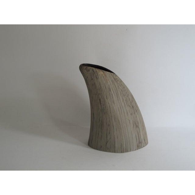 Asymmetrical Sgraffito Line Ceramic Vase - Image 2 of 6