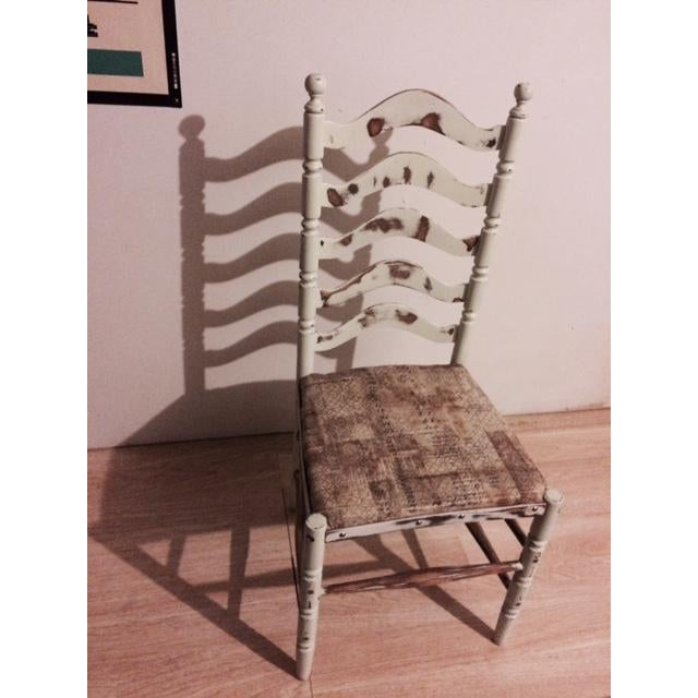 Shabby Chic Ladder Back Chair - Image 3 of 6