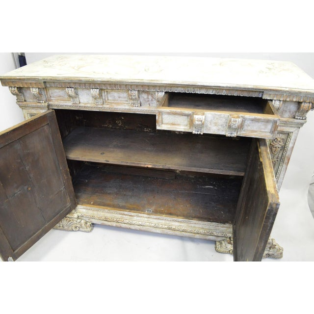 Mid 18th Century 18th Century Hand Painted Italian Two Door Cupboard Gianni Versace Ex Property For Sale - Image 5 of 10
