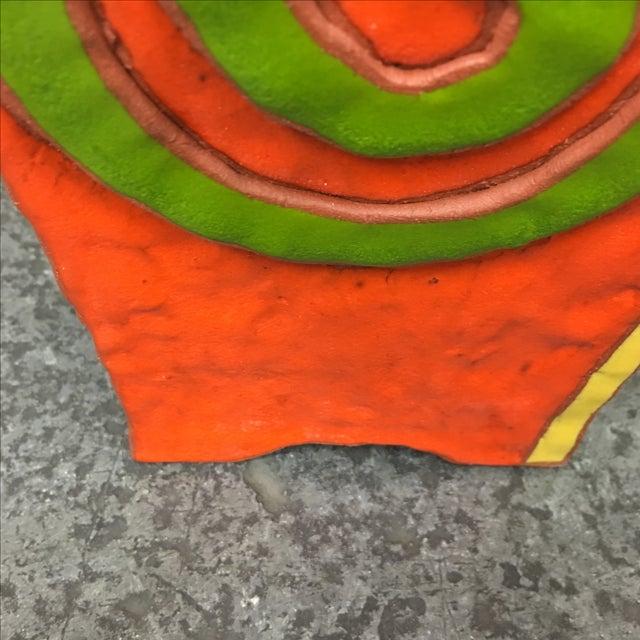 """Brown Velvet Matting """"Earth Vessel"""" - Image 7 of 9"""