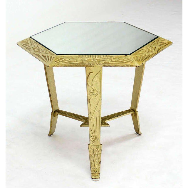 Mid-Century Modern, Hexagon-Top and Star Base Side or Occasional Table For Sale - Image 10 of 10
