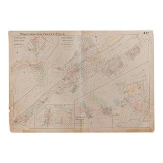 Vintage Hopkins Map of Bedford Hills Bedford Village For Sale