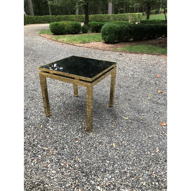 1970s French Maison Jansen Brass Occasional Table For Sale - Image 11 of 12