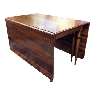 1970's Vintage Pennsylvania House Cherry Drop Leaf Dining Table For Sale