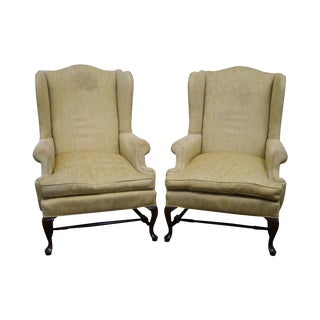 18th Century Style Queen Anne Wingback Chairs - a Pair For Sale