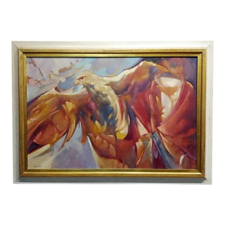 Charles Bragg - the Falcon - Oil Painting For Sale