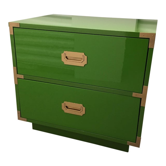 Dixie Campaign Lacquered Campaigner Chest - Image 1 of 6