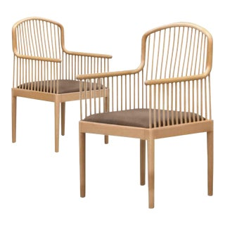 Last Call Davis Allen for Stendig Italy/Knoll International Natural Finish Armchair