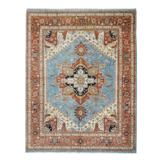 Mid 20th Century Hand Knotted Heriz Rug For Sale