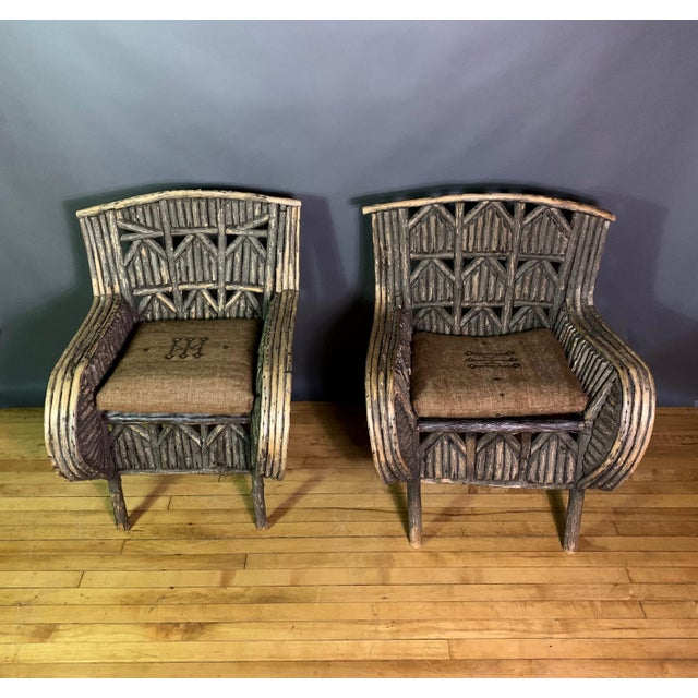 1930s Pair of 1930s New Hampshire Adirondack Chairs For Sale - Image 5 of 12