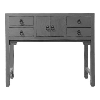 Asian Gray Console Table For Sale