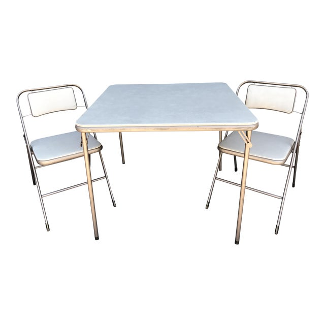 Terrific Vintage Samsonite Card Table Chairs Pabps2019 Chair Design Images Pabps2019Com