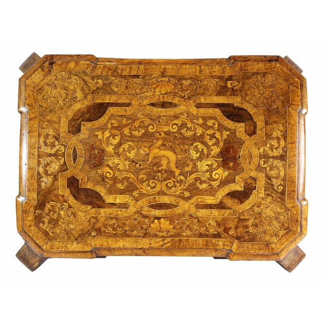 Dutch Rococo Walnut and Marquetry Document Box For Sale In Boston - Image 6 of 13