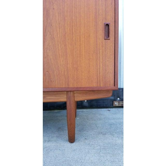 Wood Borge Mogensen Teak Sliding Door Credenza For Sale - Image 7 of 12
