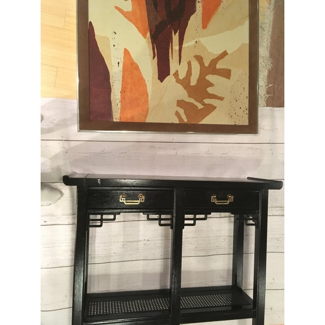 Handsome midcentury modern mixed media collage on canvas by noted Chicago artist Tom Paar (1921-1991). Signed lower right...
