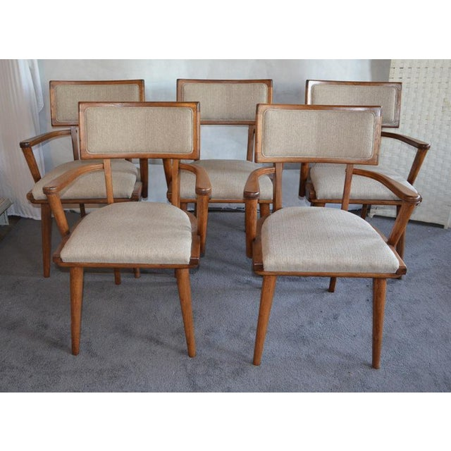 Mid-Century Modern Mid Century Ash Chairs - Set of 5 For Sale - Image 3 of 10