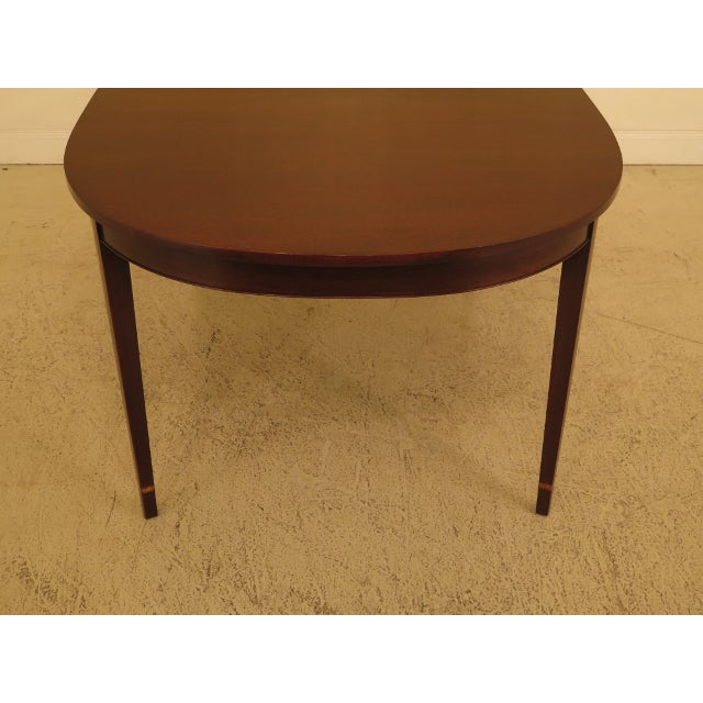 Henkel Harris Inlaid Federal Mahogany Dining Room Table For Sale - Image 11 of 13