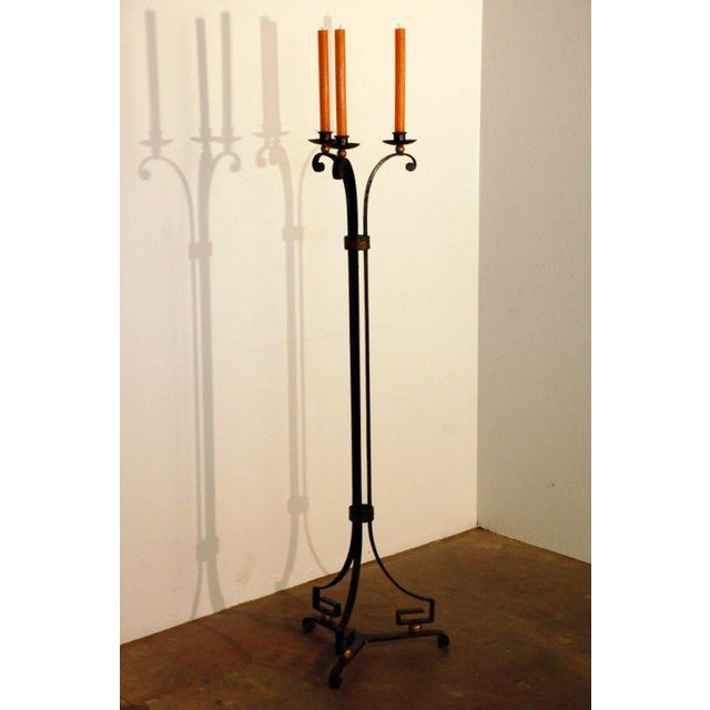 1940s Exceptional French 40's Candelabra in the Style of Gilbert Poillerat For Sale - Image 5 of 8